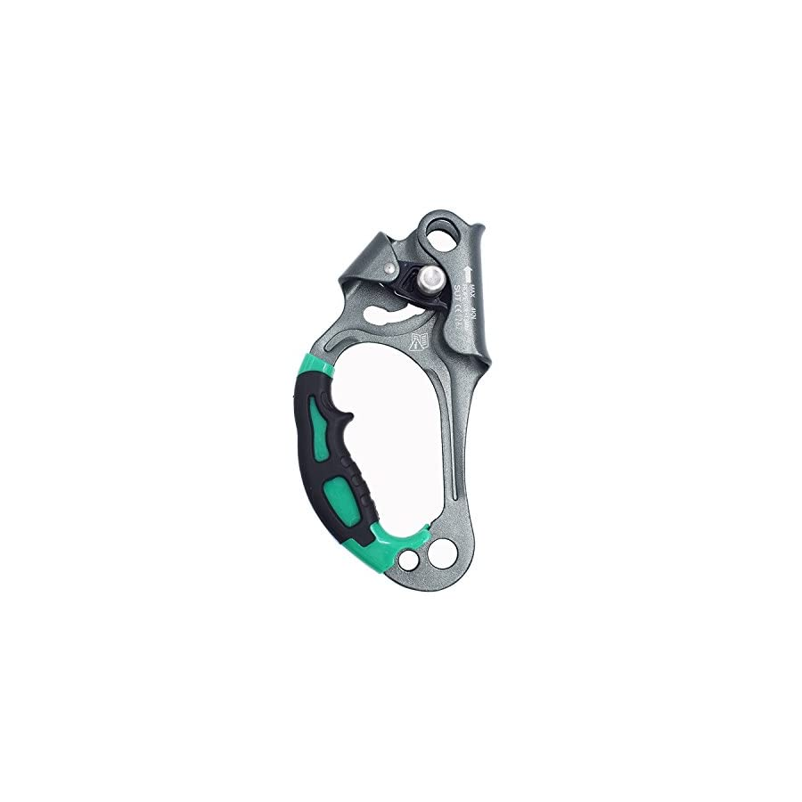 Newdoar Left Hand Ascender Rock Climbing Tree Arborist Rappelling Gear Equipment Rope Clamp for 8 13MM Rope
