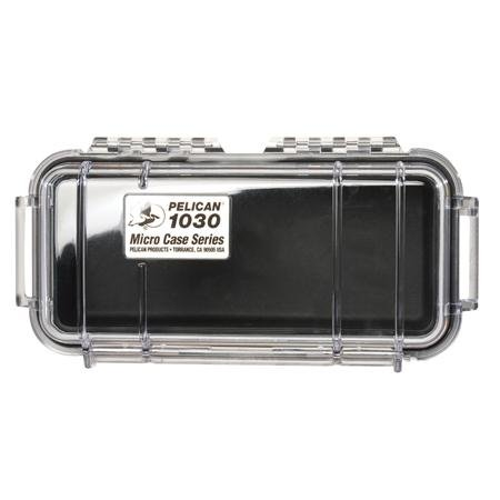 Waterproof Case | Pelican 1030 Micro Case - for GoPro, camera, and more (Red/Clear) (Red Case Micro)