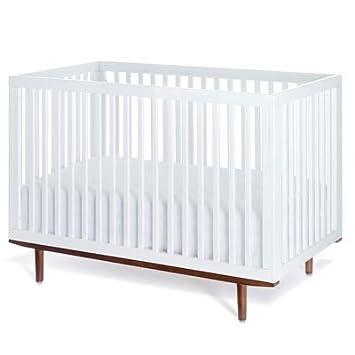 Muu Ray Crib   White W/Hazelnut Legs (no Panel) Pictures Gallery