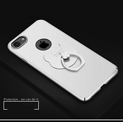 iPhone 6 Funda , iPhone 6S Funda ,color sólido, estilo sencillo,Alta Calidad Ultra Slim Anti-Rasguño y Resistente Huellas Dactilares Totalmente Protectora Caso de Plástico Duro Cover Case+stand holder E