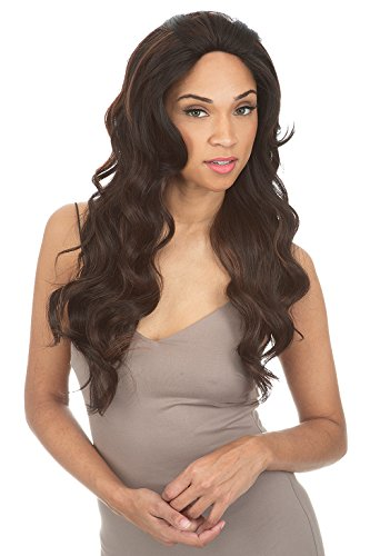 Any Part - Magic Lace Any Part Synthetic Hair 4X4 Lace Front Wig - MLA67 (FS4/30 [Medium Brown & Light Auburn])