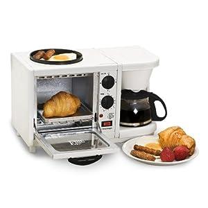 Elite Cuisine EBK-200 Maxi-Matic 3-in-1 Multifunction Breakfast Center, White
