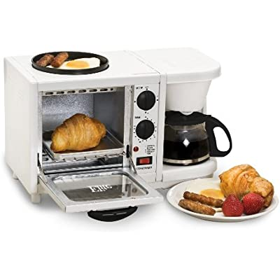 Click for Elite Cuisine EBK-200 Maxi-Matic 3-in-1 Multifunction Breakfast Center, White