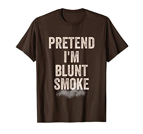 Lazy Halloween Costume Shirt Stoner Pretend I'm Blunt Smoke T-Shirt -