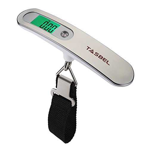 Tasbel Digital Luggage Scale 110lb/50kg Capacity Hanging Postal Luggage Scale (Digital Suitcase Scale compare prices)