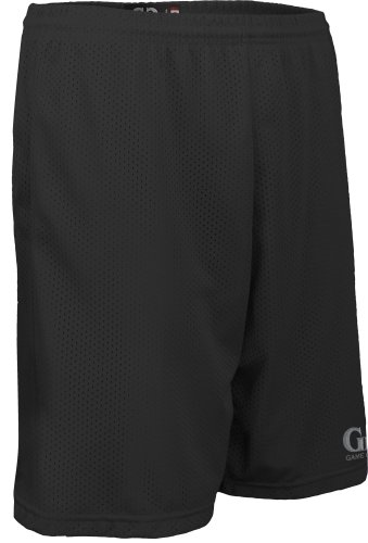 "Men's and Women's Solid Color 9"" Short-1.5"" Covered Elastic Waist with Draw String-Basketball, Lacrosse, Soccer, Softball, Tennis-Colors Include Black, Red, Purple,and Blue-Sizes SM-XXXL. (X-Large, Black)"