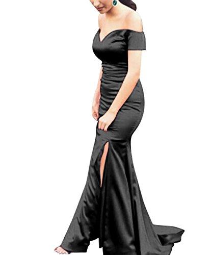 für Damen Schwarz Rueckenfrei Kleid Aiyana Langes Elegantes Ärmellos Ballkleider V Rot Meerjungfrau 36 Abendkleider Ausschnitt x7FTOqwU