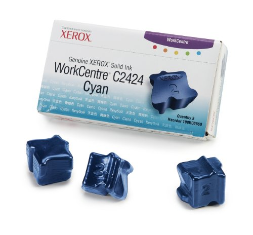 108r00660 Cyan Ink - Xerox Solid Ink Sticks Cyan for Workcentre C2424 3 Sticks