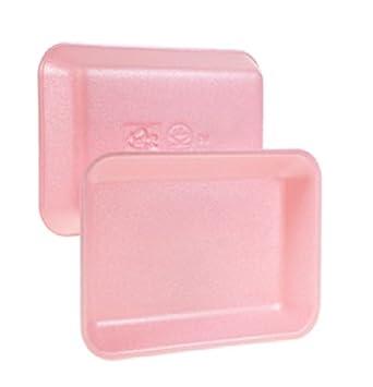 CKF 2P, # 2 bandejas de carne de espuma rosa, Standart supermercado desechables bandejas