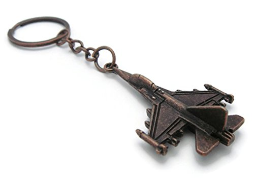 K-56 Design Classic Airplane Aviation Aircraft Style Metal Pendant Keychain Key Ring (Copper), - Metal Classic Craft