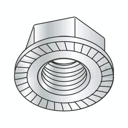 M12-1.75 Hex Flange Locknuts/Serrated/Class 8 / Zinc/DIN 6923 (Quantity: 600)