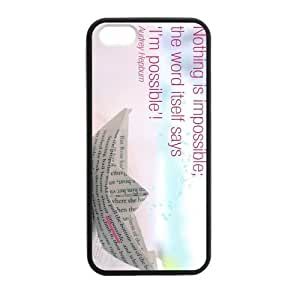 Audrey Hepburn Possible Quote Case for iPhone for iPhone 5 5s case