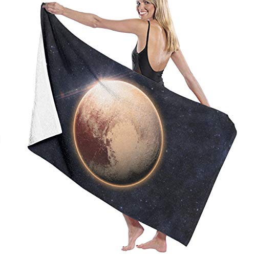 Microfiber Quick Dry Super Absorbent Bath Towel - Cool Space Planet Art Beach Towels for Adults, Swim, Water Sports, SPA and Beach Holidays