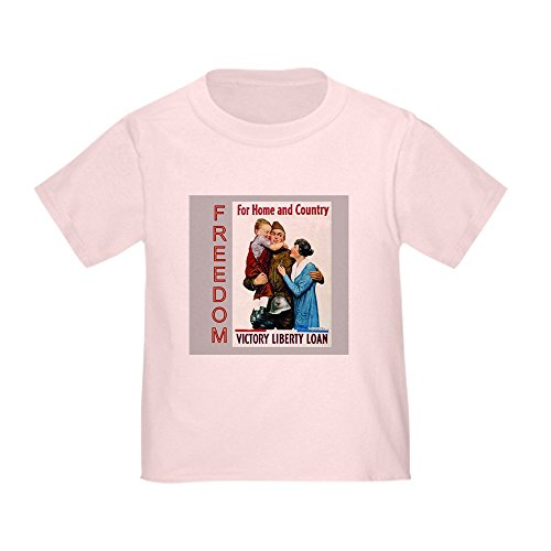CafePress Victory Liberty Loan Cute Toddler T-Shirt, 100% Cotton Pink