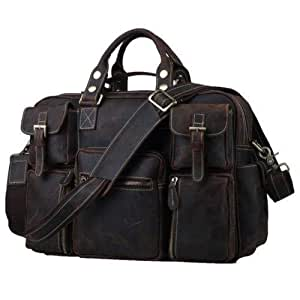 Leather office Briefcase shoulder Laptop bag