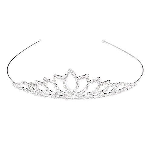 Wedding Bridal Shining Rhinestones Decor Crown Headband Tiara Headress Hair Band Band Rhinestone Decor