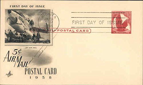 (5 cent Air Mail Postal Card Original First Day Cover )