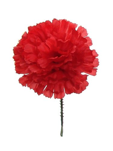 1000 Carnations 5'' Red Artificial Silk Flower Pick - Multiple Colors Available by Larksilk