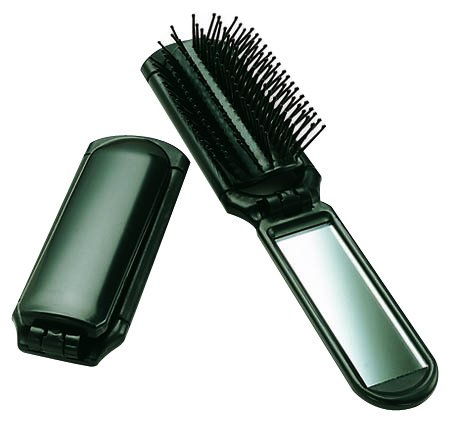 Ultra Folding Hair Brush with Mirror