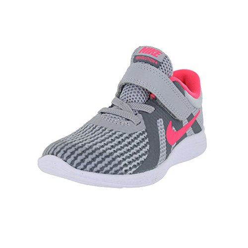 NIKE Toddler Nike Revolution 4 (TDV) Wolf Grey Racer Pink Cool Grey Running Shoe Size 9 by NIKE