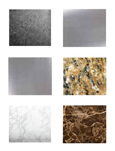Granite, Marble, Soapstone and Stainless Steel Peel and Stick Sample Swatch Color Selection by EzFaux Decor