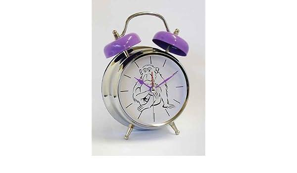Gorilla - Reloj despertador infantil Animal - Reloj con alarma de voz - hace - Mono de ruido: Amazon.es: Hogar