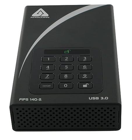 Apricorn ADT-3PL256F-10TB Aegis Padlock FIPS Validated USB 3.0 256-bit Hardware Encrypted Drive (10tb Usb Hard Drive)