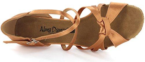 Alma Danza (x3-serie) Almadanza Dames Latin Dansschoenen A279101 Hak 2.2 Bruin