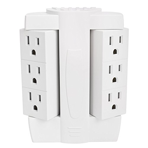 Ultimate 6 Outlet 90° Rotating Sideways Multi-plug - York New Mall Outlet