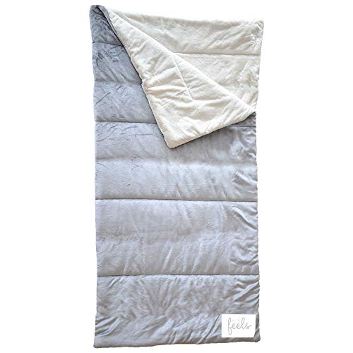 All the Feels | Extra Cozy Reversible Sleeping Bag | Super Soft | Machine Washable | Color- Ash Grey | You Buy One-We Give One