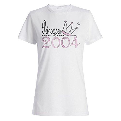 Neue Art Design Prinzessinnen sind im Jahr 2004 geboren Damen T-shirt b564f