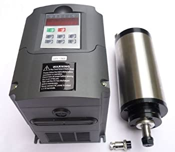 Gowe®2.2kw Water-cooled/er20/japanese Bearing Spindle Motor and 2.2kw Matching Inverter, Water-cooled Spindle Motor 2.2kw Inverter