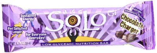 SoLo Gi Chocolate Charger Bars, 1.76-Ounce Bars (Pack of 12)