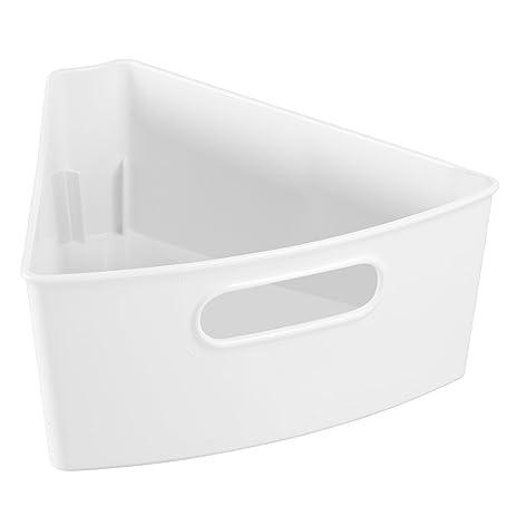 InterDesign Kitchen Lazy Susan Pantry Cabinet Binz 1/8, White