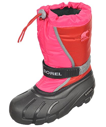 Sorel Youth Flurry R Dah Gla Cold Weather Boot , Red Dahlia,