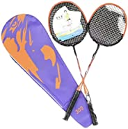Badminton Set with 1 Handy Carrying case, 2 Aluminum Rackets, and 3 Birdies.
