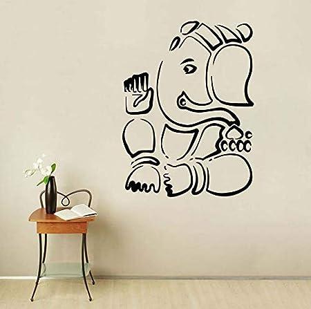 Ganesha Lord Pegatinas de Pared de Elefante Indio Animal Vinilo ...