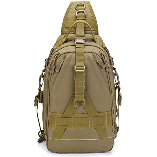 GZTLJ Fishing Tackle Storage Bag Outdoor Shoulder Backpack Fishing Backpack Hunting Backpack (Brown)