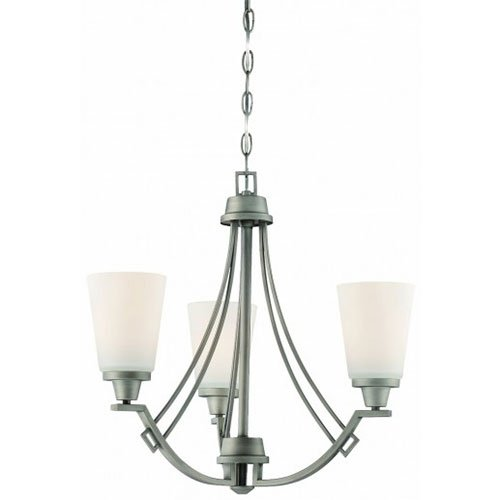 (Thomas Lighting 190109718 Wright Chandelier, Antique Pewter )
