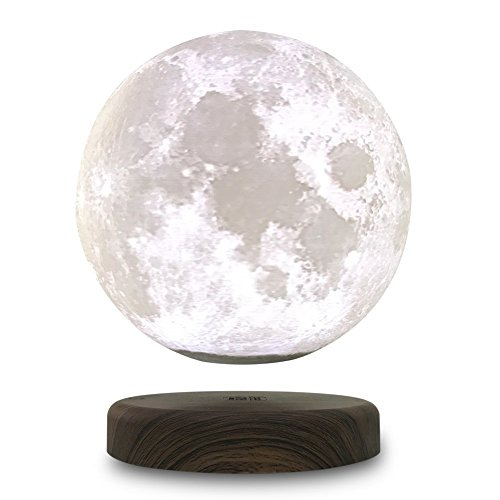 Leviluna Magnetic Levitation LED Moon light 6inch/15cm Maglev Levitation Floating 3D Moon Lamp Magnetic Floating 3D Printing LED Moon Light