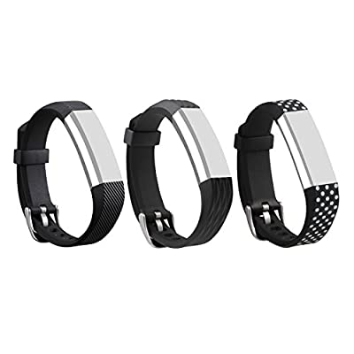 I-SMILE 3PCS Newest Colorful Replacement Wristband With Secure Clasps for Fitbit Alta Only(No tracker, Replacement Bands Only) from I-SMILE