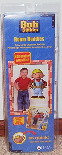 "Priss Bob the Builder Room Buddies ~ 28"" TALL Removable & Reusable Wall Stick-Ups"