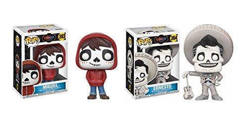 Funko POP! Disney and Pixar Movie COCO Miguel and Ernesto Toy Action Figure - 2 POP BUNDLE