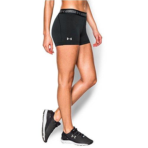 "Under Armour Women's HeatGear Armour 3"" Shorty, Black/Black, Medium (Armour Compression Womens Shorts Under)"