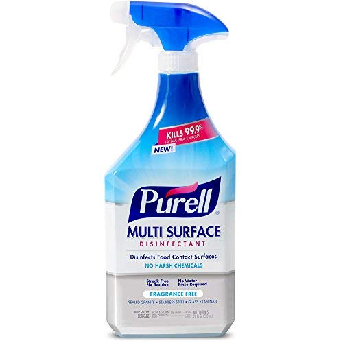 PURELL Multi Surface Disinfectant Spray - Fragrance Free, VOTED 2018 PRODUCT OF THE YEAR - 28 oz. Spray Bottle (Pack of 2) - 2846-02-EC