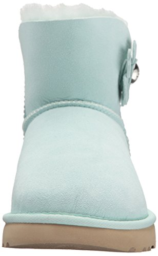 Ugg Damesschoenen - Mini Bailey Button Poppy - Aqua Aqua