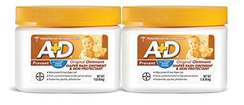 A+D Original Diaper Rash Ointment, 1 Pound Jar Pack of 2