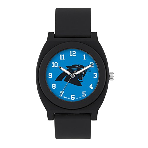 NFL Carolina Panthers Mens Fan Series Wrist Watch, Black, One Size (Sports Watch Panthers)