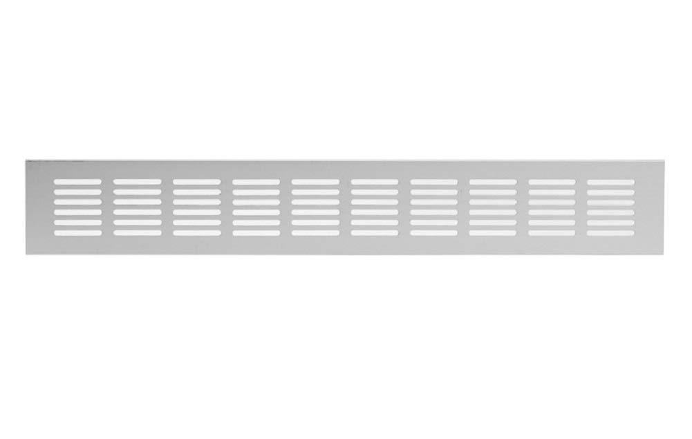 Rejilla de ventilaci/ón de aluminio color plateado 60 x 400 mm