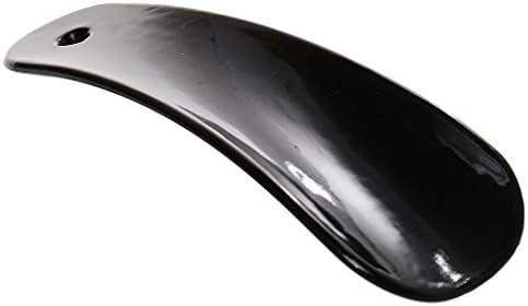 黒 4.2 インチ プラスチック 靴べら 靴のケア シューホーン 靴ホーン くつべら 携帯